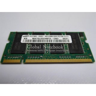 512MB Notebook RAM Speicher Memory Modul DDR1 8Chip #3704